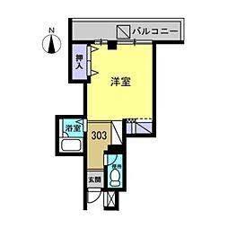 フルール2[303号室]の間取り