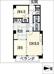 アサヒビル(住居)[4階]の間取り