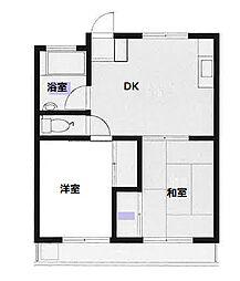 若葉ハイツII 103号室[1階]の間取り