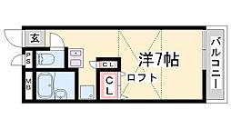レオパレス熊野[2階]の間取り