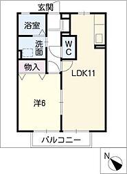 プレミール千代田[2階]の間取り