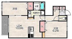 D-room花畑 参番館[1階]の間取り