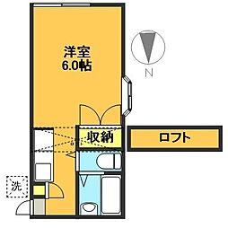 ハッチハウス経堂[203号室]の間取り