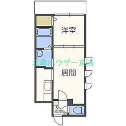 北海道札幌市東区北十一条東4の賃貸マンションの間取り