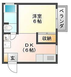 オレンジマンション[1階]の間取り