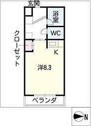 COURAGE474[3階]の間取り