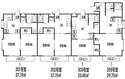 YAMAZAKI 3[205号室]の間取り