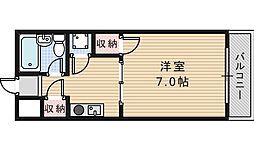 パラディ西田辺[2階]の間取り