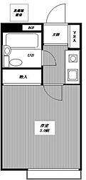 東京都練馬区西大泉3丁目の賃貸アパートの間取り