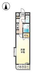 クオーレ丹羽[4階]の間取り