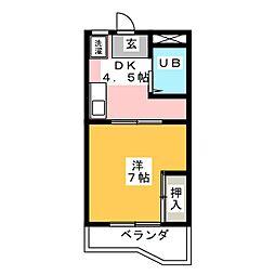 サンハイツ前田[1階]の間取り