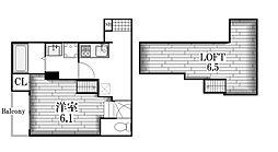 Cupre OSONE[2階]の間取り