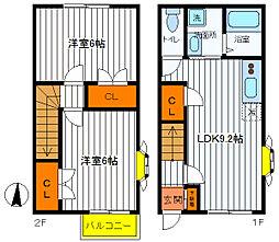 [テラスハウス] 東京都立川市柴崎町1丁目 の賃貸【/】の間取り