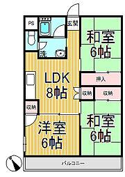 飯島第一ビル[305号室]の間取り
