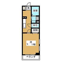 メゾン皐月[2階]の間取り
