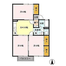 コンフォールサツキ[2階]の間取り
