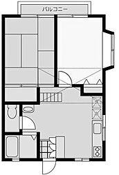 T・Hハイム2[2階]の間取り