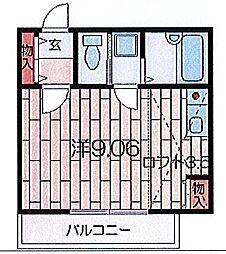 アニメイト井土ヶ谷[202号室]の間取り