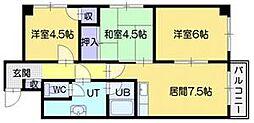 野幌ハイツ[2階]の間取り