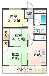 マンション大門[3階]の間取り
