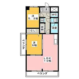 PIER34[6階]の間取り
