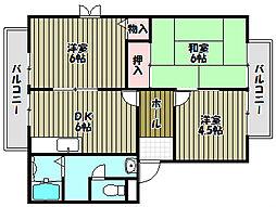 クレスト堺I・II[2階]の間取り