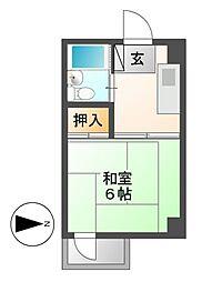 中西ビル[3階]の間取り