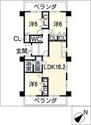 グラシオン仁大[5階]の間取り