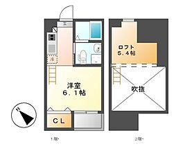 ホワイトアゲート[1階]の間取り