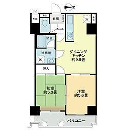 「ライオンズマンション京都河原町第2」[8階]の間取り