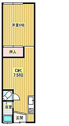 木村アパート[2階]の間取り