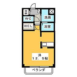 ウィステリアワカヤマ3(Wisteria Wakayama[3階]の間取り