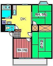 ヴァンクール[2階]の間取り