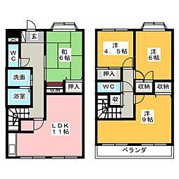 [テラスハウス] 静岡県富士市宮島 の賃貸【/】の間取り