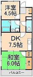 インステート綾瀬[201号室]の間取り
