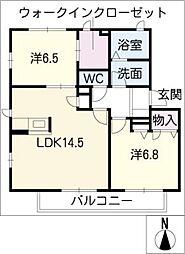 コンフォート大高[2階]の間取り