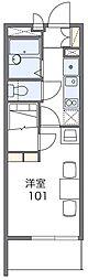 京阪本線 門真市駅 徒歩9分の賃貸マンション 2階1Kの間取り