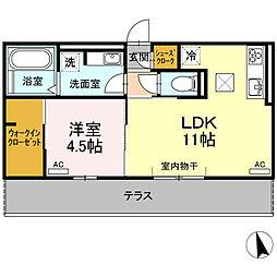 (仮称)D−room荒子町[102号室]の間取り