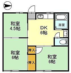 豊岡市高屋 ファミールコーポ高屋6棟[2階]の間取り