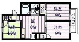 セジュール 高井[2階]の間取り