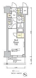 東京メトロ南北線 麻布十番駅 徒歩7分の賃貸マンション 9階1Kの間取り