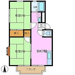 サンハイツ恵[2階]の間取り