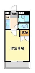 兵庫県姫路市大津区長松の賃貸アパートの間取り