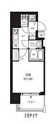 Osaka Metro中央線 堺筋本町駅 徒歩4分の賃貸マンション 12階1Kの間取り