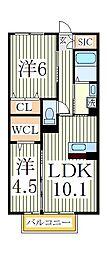 リンスカイ[2階]の間取り