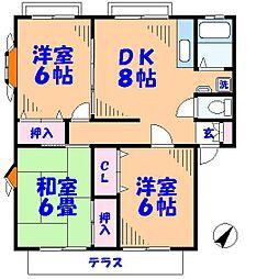 サンクレールN[1階]の間取り
