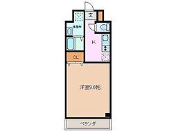 ルラシオン江戸橋 1階1Kの間取り