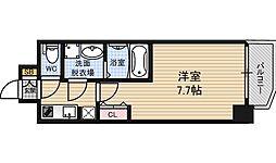 サムティ福島PORTA 5階1Kの間取り