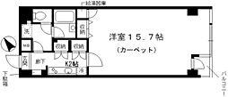 シャルム内神田 2階1Kの間取り