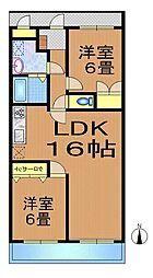 ルネス北沢[3A号室]の間取り